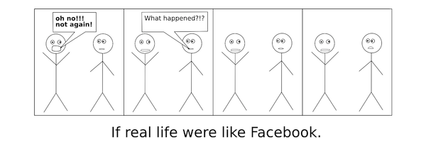 If real life were like Facebook